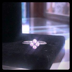 Pink Flower Pandora Ring size 6.5